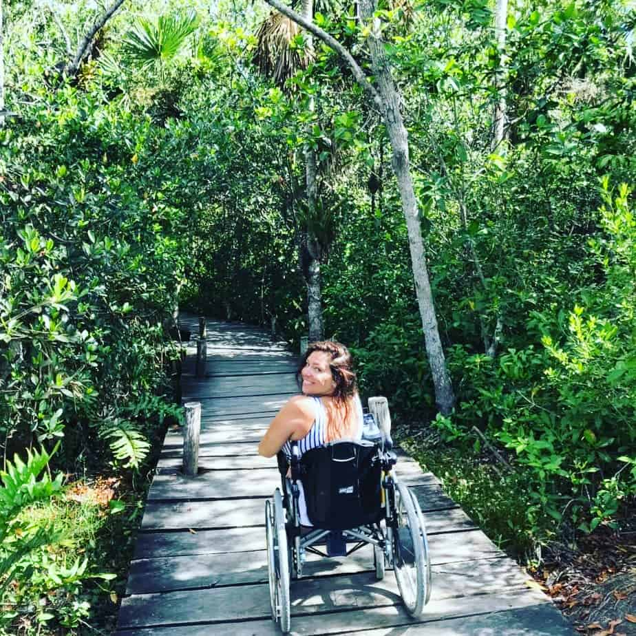 Tulum mit Rollstuhl