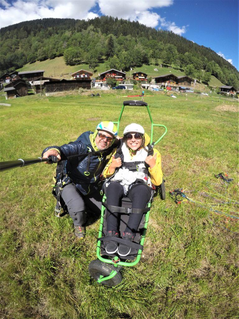 Paragliding für Rollstuhlfahrer