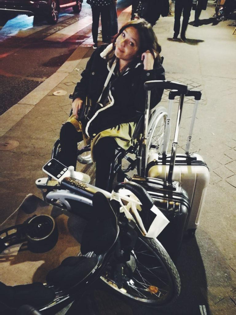 Rollstuhl in Paris