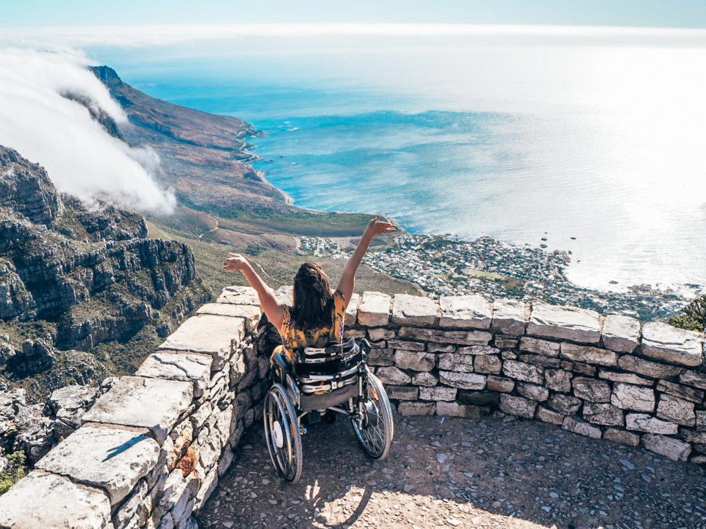 Tafelberg mit Rollstuhl