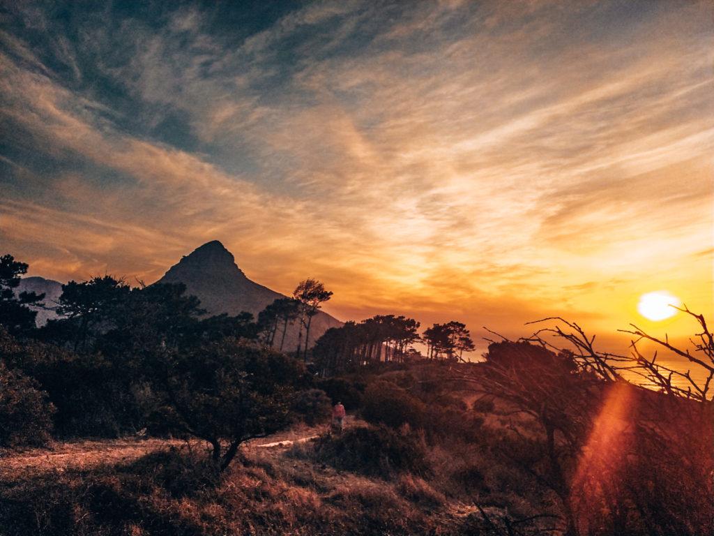 Lions Head bei Sonnenuntergang