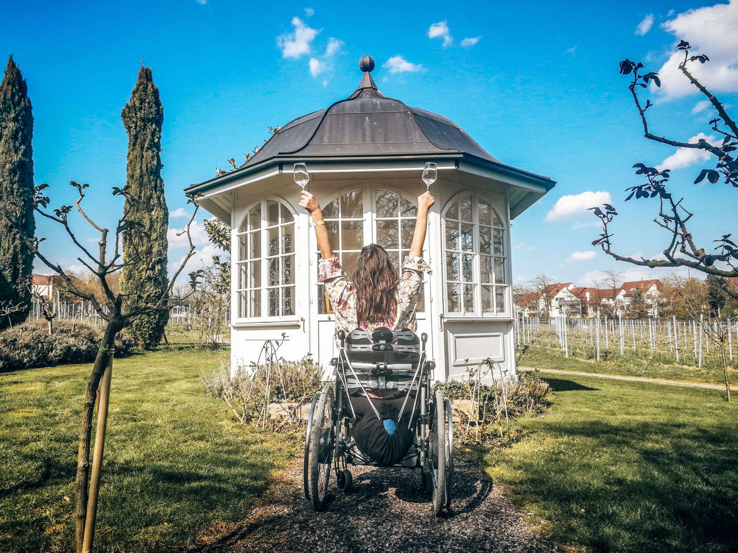Pfalz mit Rollstuhl