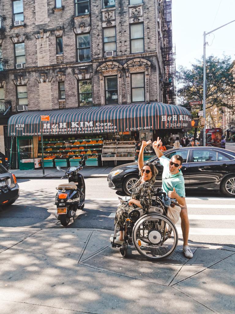 New York mit Rollstuhl