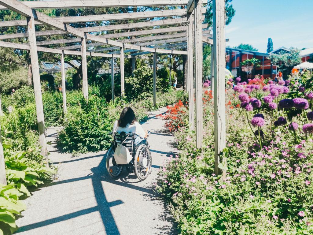 Bodensee mit Rollstuhl