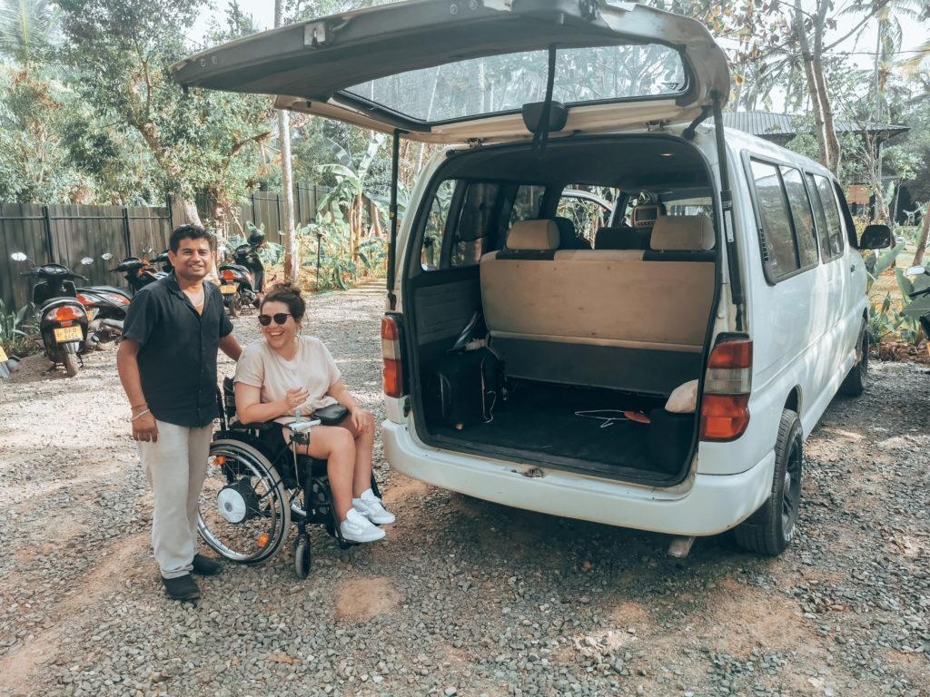 Sri Lanka mit Rollstuhl