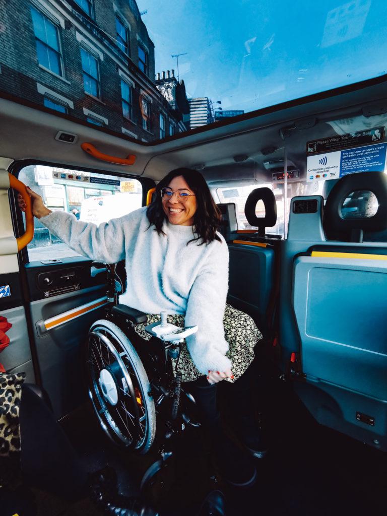 London mit Rollstuhl