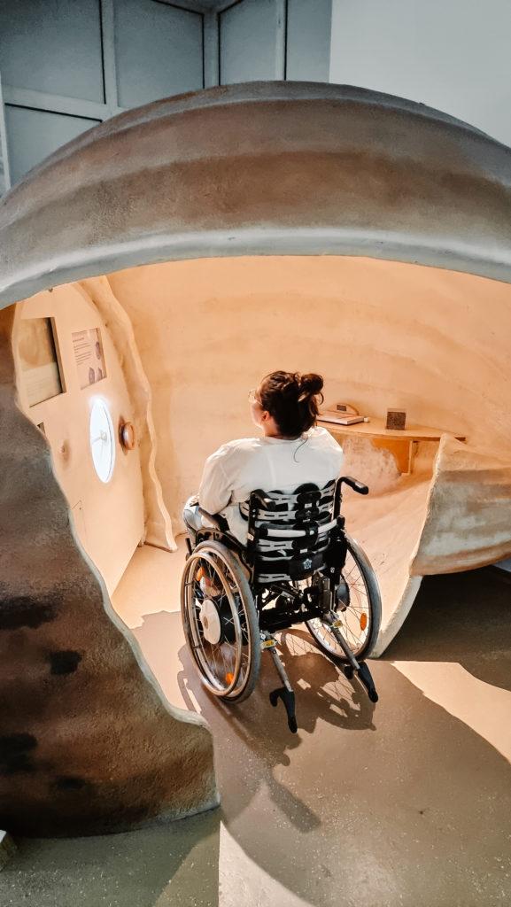 Norddeich mit Rollstuhl