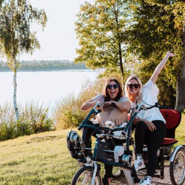 Xanten mit Rollstuhl